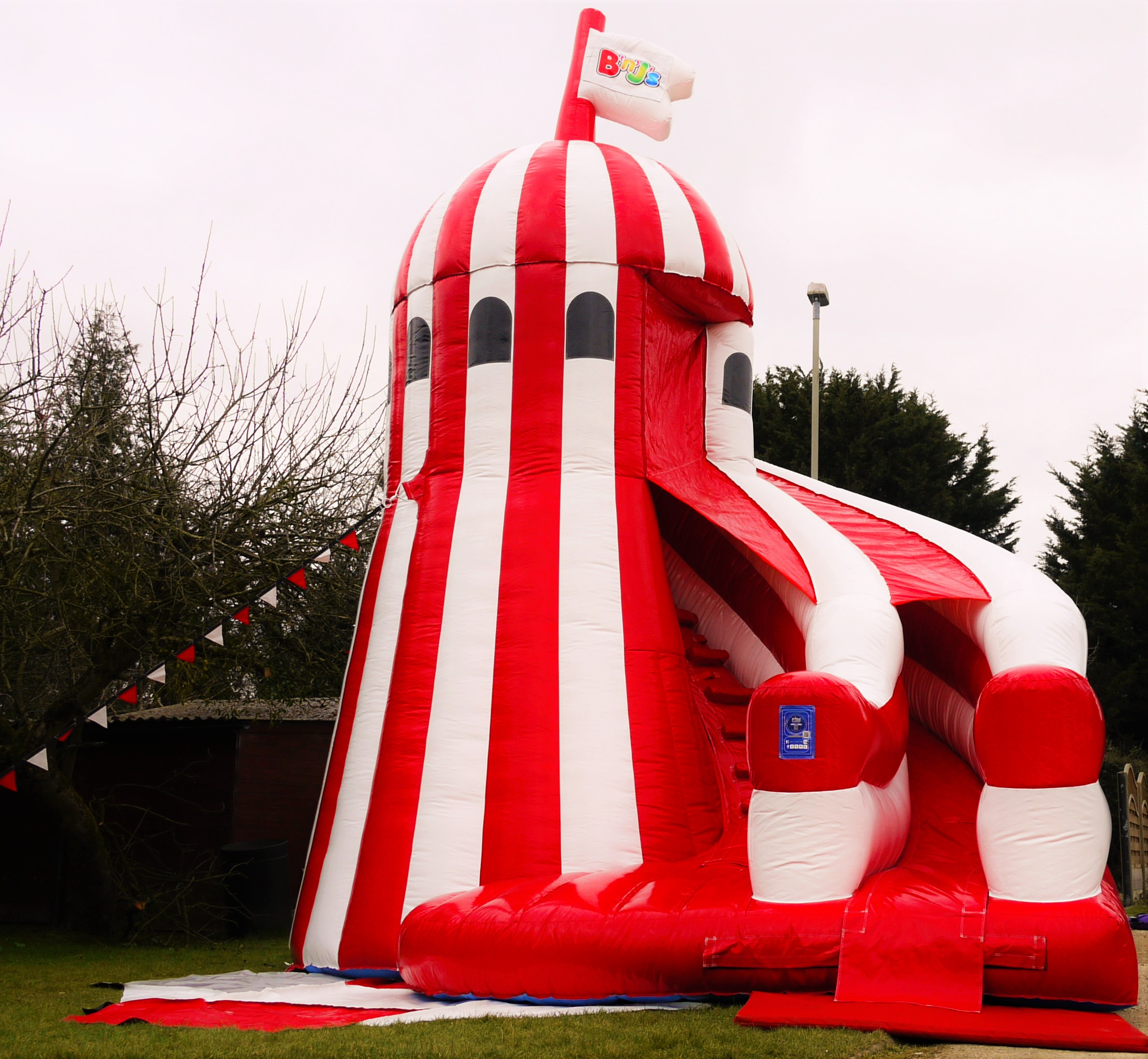 this is the helter skelter mega slide new to bnjs for the 2016 season for events and fetes stunning in the traditional red and white colours and the first - Traditional Castle 2016